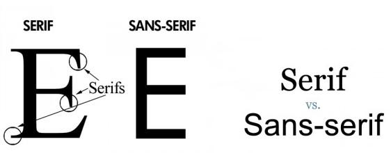 san serif